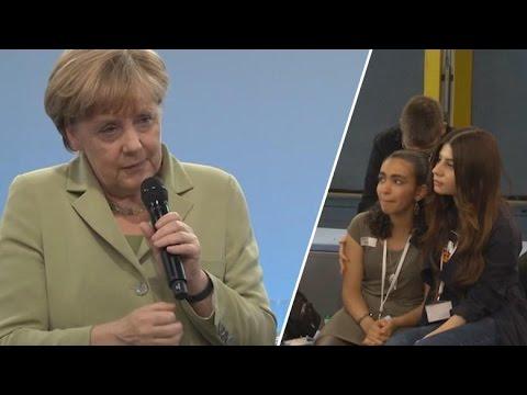 Merkel im Bürgerdialog - Das ungeschnittene Gespräch mit dem Flüchtlingsmädchen Reem