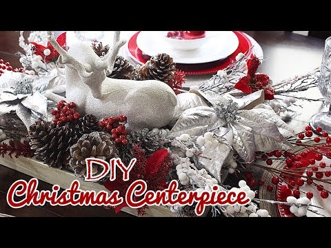 DIY Christmas Tablescape Centerpiece | Traditional Glam