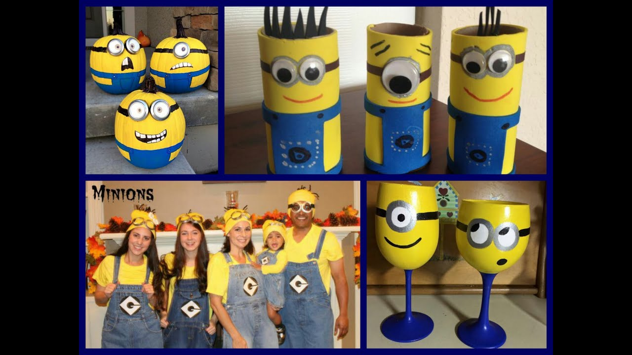 Diy minion crafts ideas minion crafts for kids youtube solutioingenieria Gallery