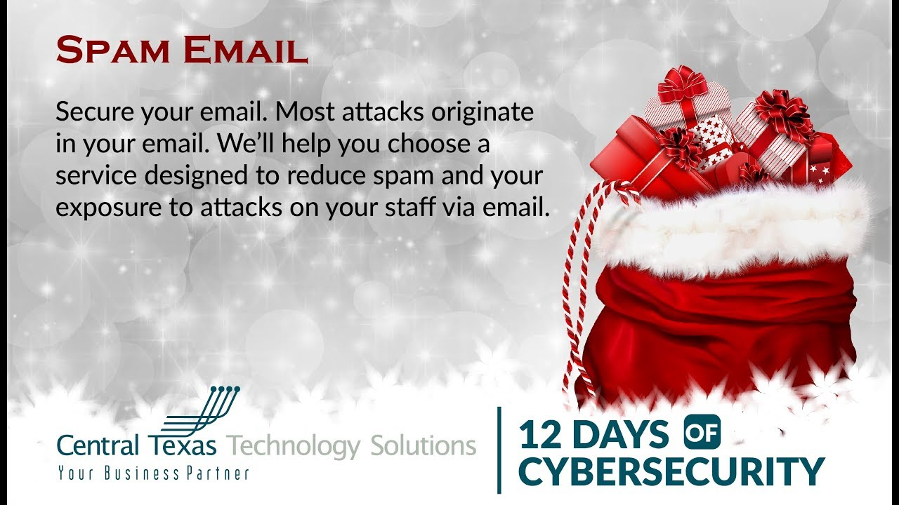 12 Days of Cybersecurity, Day 1: Spam Email - YouTube
