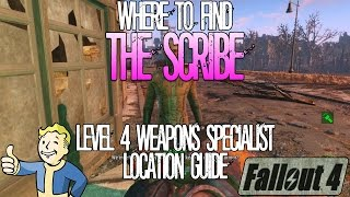 Fallout 4 The Scribe Level 4 Armor Merchant Location Guide