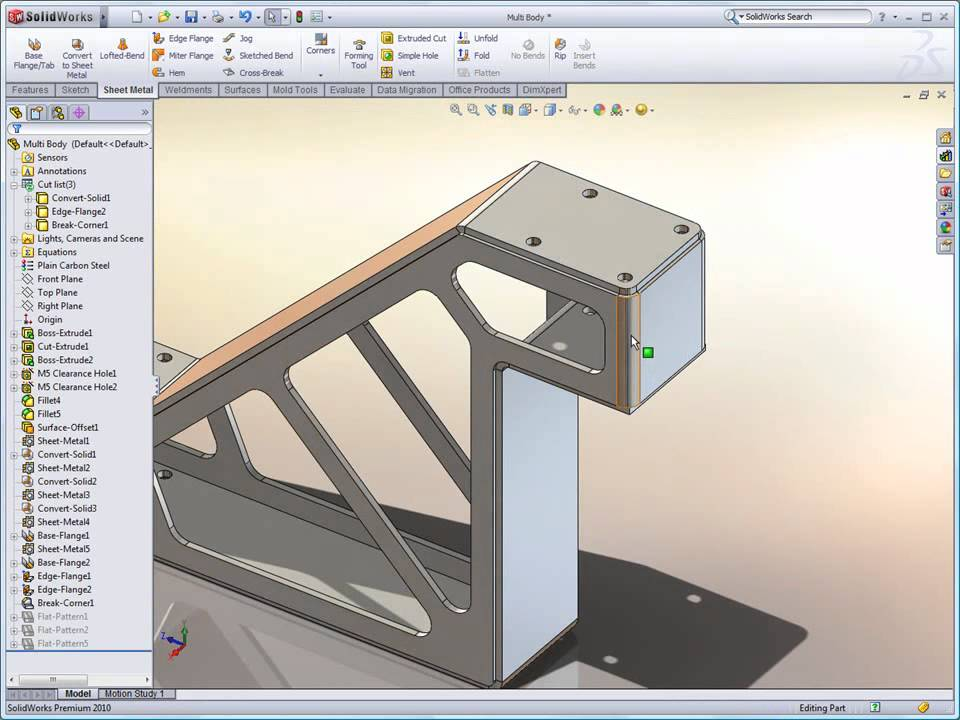 Solidworks Multi Body Sheet Metal Youtube