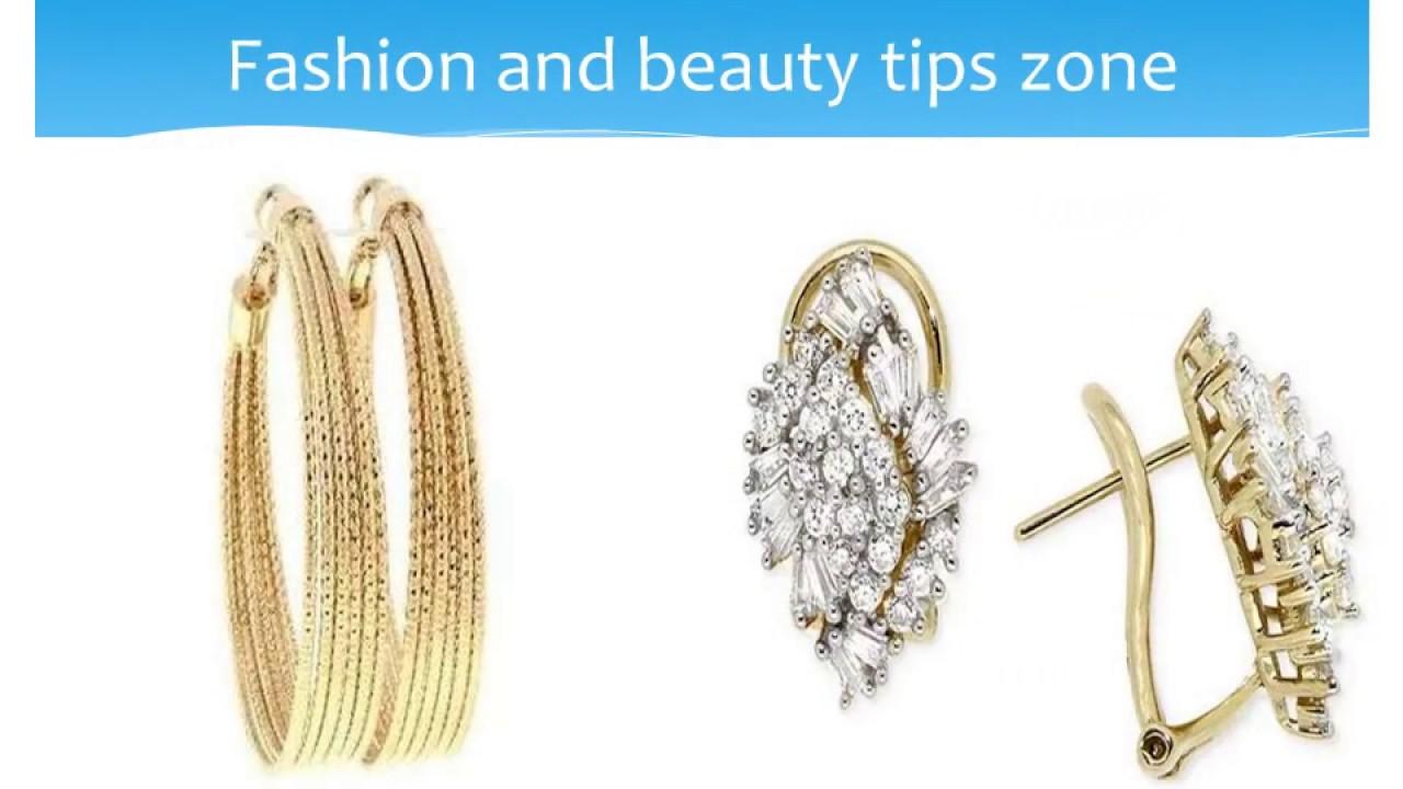 Designer Earrings for Women 2017-Light Weight Gold Earrings ...