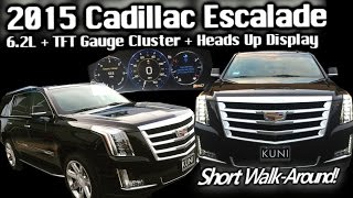 New Ride! 2015 Cadillac Escalade - Black Raven - TFT Gauge Cluster - H.U.D. - 6.2L 4wd - Walk Around
