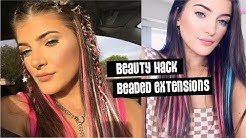 Beauty Hack | DIY Rainbow Colored Hair Extensions