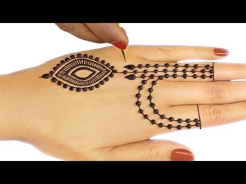 Ornamental Mehndi Design For Hands - Jewelry Mehndi Design For Back Hands #41 @jaipurthepinkcity