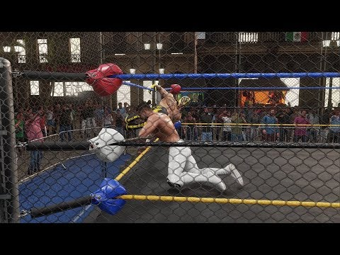 NEW WWE 2K19 Steel Cage Match in Mexico w/ Run In - Rey Mysterio vs Andrade Cien Almas