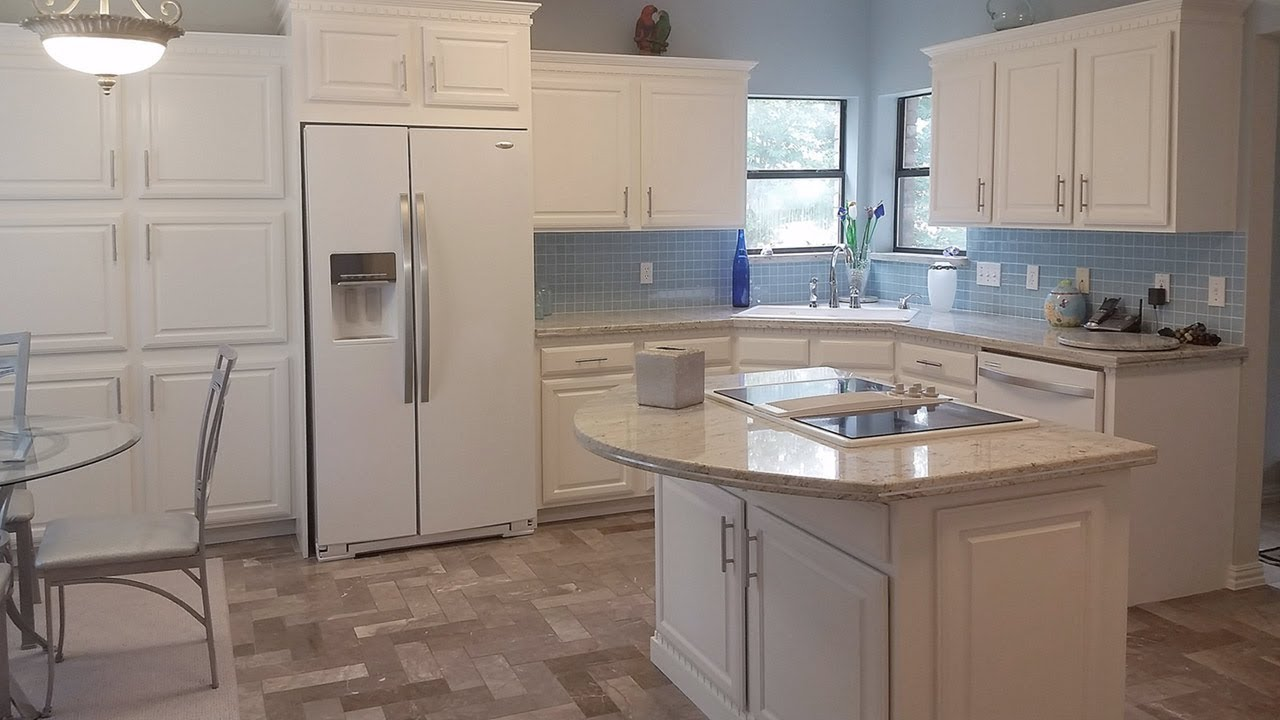 DIY Kitchen Remodel On A Budget - Painted White Washed Cabinets ...