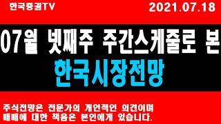 7월 넷째주 주간스케줄로 본 한국시장전망!!