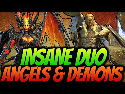 CARDIEL & SICIA FLAMETONGUE REVIEW   THEY DO THEM ALL   MOST COMPLETE COUPLE RAID SHADOW LEGENDS