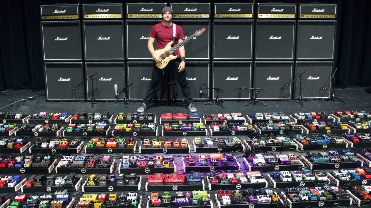 Rob Scallon and Sweetwater just broke the world record for the largest  guitar effect pedalboard  Guitar World
