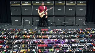 The World's Largest Guitar Pedalboard (world record)