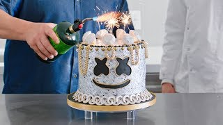 Download Yummy Light It Up Party Cake Decorating Tutorial with Chef Duff Goldman | Cooking with Marshmello Mp3 and Videos