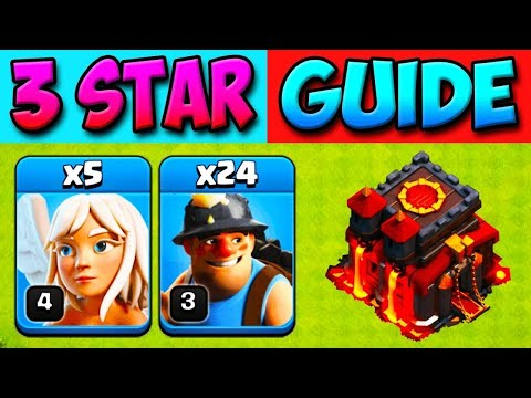 TH10 MINER ATTACK! Town Hall 10 Attack Strategy  CLASH OF CLANS COC