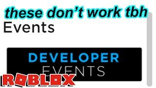 roblox's new developer events REALLY do not work
