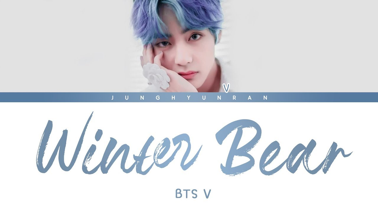 bts v winter bear color coded lyrics youtube