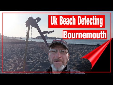 metal detecting bournemouth beach with the ctx3030 coins,rin
