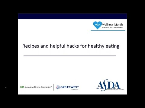 Recipes and helpful hacks for healthy eating (webinar)