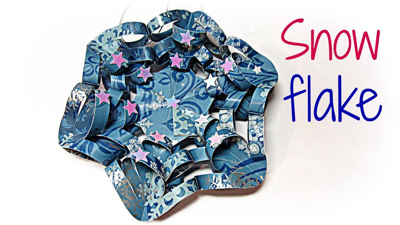 cmo hacer adornos de navidad copo de nieve paper snow flake youtube