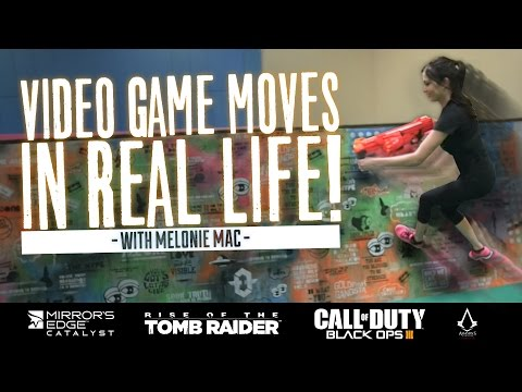 Video Game Moves in REAL LIFE: Free Running w/ Melonie Mac