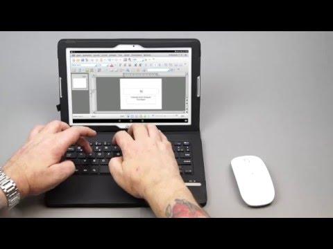 Mobiles Büro mit dem Acer Iconia One 10, Tastatur und Maus