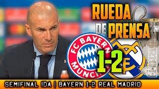 Bayern Munich 1-2 Real Madrid RUEDA DE PRENSA de ZIDANE post SEMIFINAL Champions (25/04/2018)