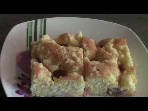 Летний сочный ягодный пирог с крыжовником