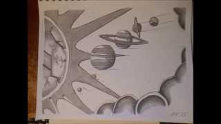 Our Solar System (Space drawing #2)