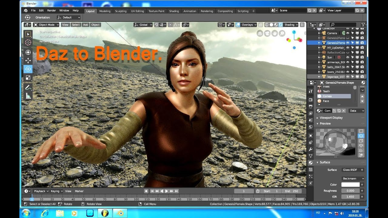 Daz Studio to Blender, How to Export Character Animation!