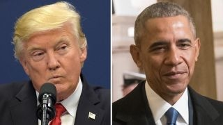 Comparing media coverage of Trump, Obama protests