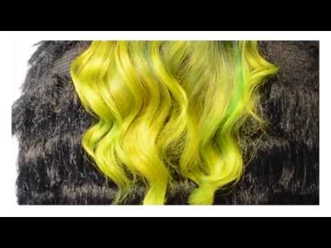 VIBRANT Yellow, and Blue/Green Hair. Don't miss this!