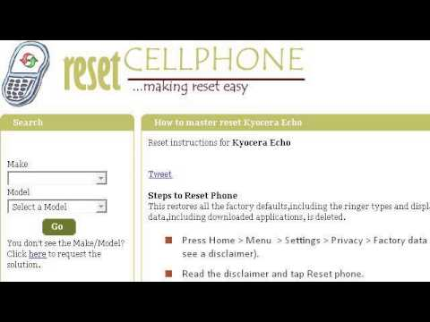 How-To Reset Your Kyocera Echo