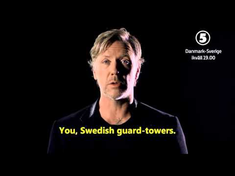 Mikael Persbrandt readies himself for the SwedenDenmark match  English subtitles