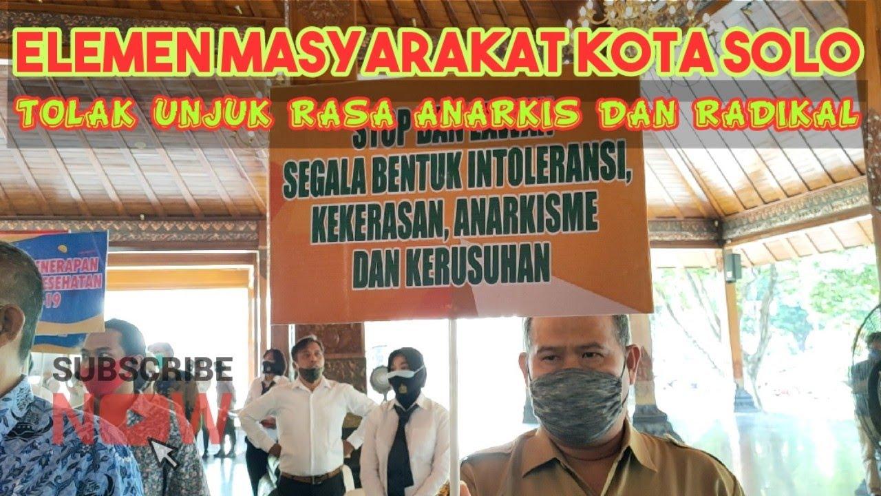 Deklarasi Menentang Aksi Unjuk Rasa Anarkis dan Radikal ... SOLO KUTHA AYEM LAN TENTREM !!!
