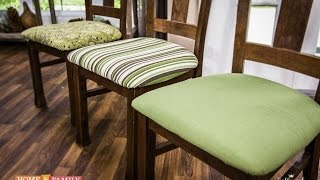 Basic Upholstering Dining Chairs - DIY by Tanya Memme (As Seen On Home & Family on Hallmark Channel)