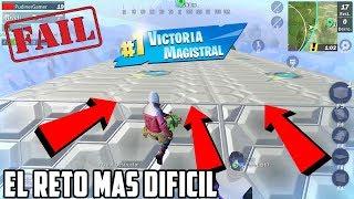 EL RETO MAS DIFICIL DE CREATIVE DESTRUCTION EPIC FAIL!