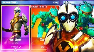 "NEW LEAKED SKINS UNLOCKED in Fortnite! ""Venturion Skin"" Gameplay & ""AIRFOIL PICKAXE"" Gameplay"