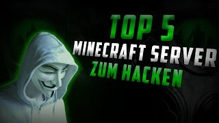 Top 5 Minecraft Server zum Hacken!