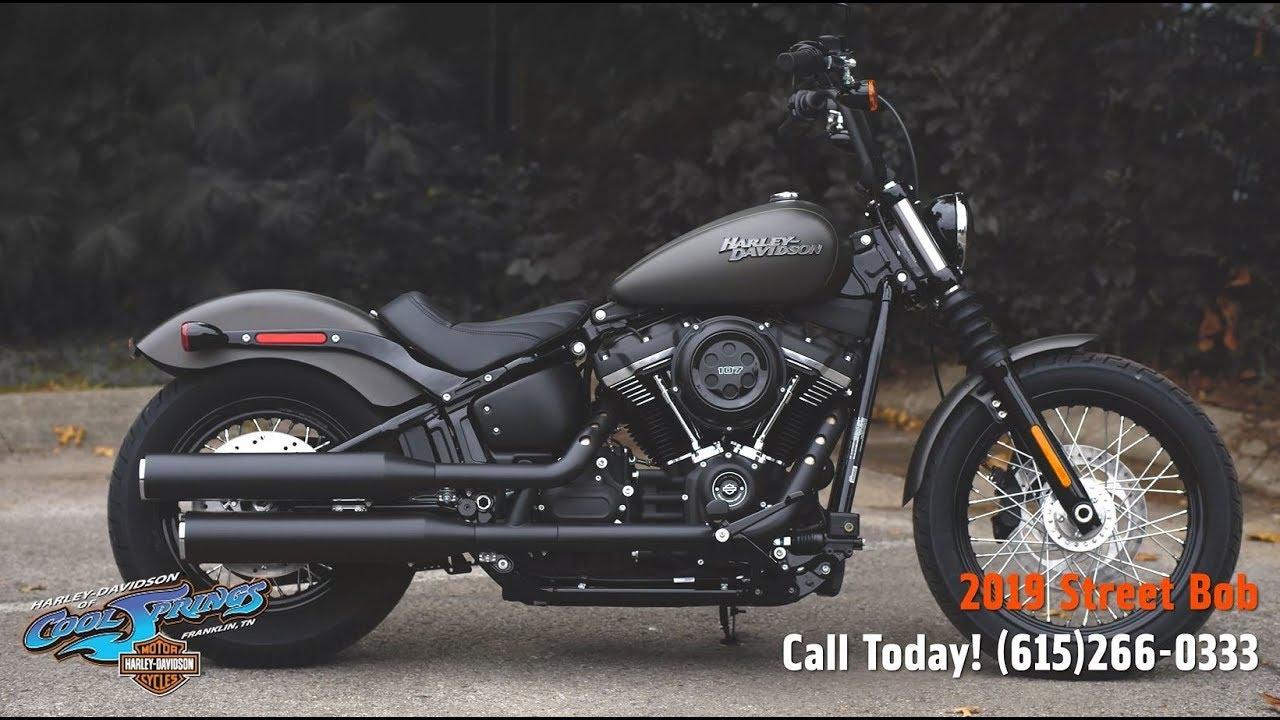 2019 Harley-Davidson FXBB - Softail Street Bob - YouTube