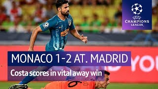 Monaco vs Atletico Madrid (1-2) UEFA Champions League Highlights
