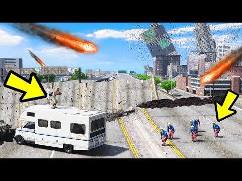 GTA 5 - ЭТО НАСТОЯЩИЙ КОНЕЦ СВЕТА! ПЫТАЕМСЯ ВЫЖИТЬ! МЕТЕОРИТНЫЙ ДОЖДЬ! ЧТО БУДЕТ ДАЛЬШЕ?!