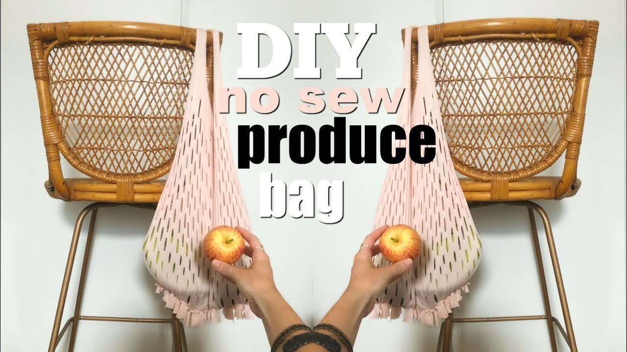 Diy No Sew Produce Bag From And Old T Shirt