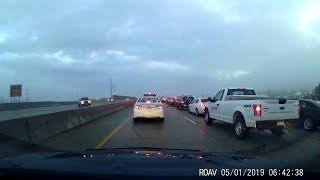Truck Slides into Median || ViralHog