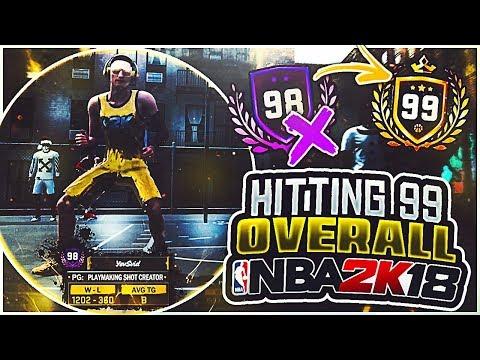 99 OVERALL PULLING UP ON ANNOYING 🚀 BEST SHOTMAKER 🔥 NBA 2K18 🔥 EX NBA 2K17 GOAT