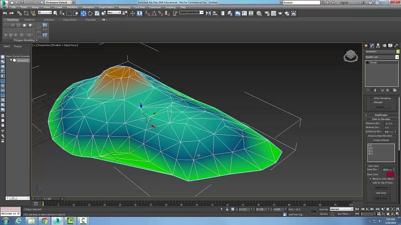 3ds Max 11-10 Terrain Color by Elevation Rollout - YouTube