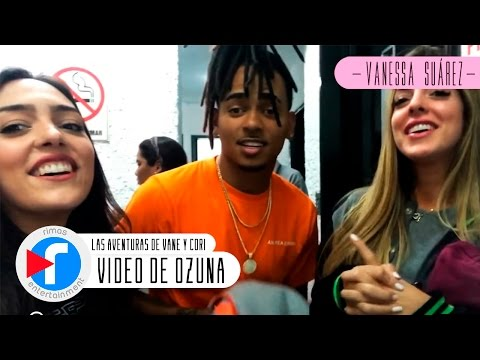 Las Aventuras De Vane y Cori en la grabación del video de Ozuna