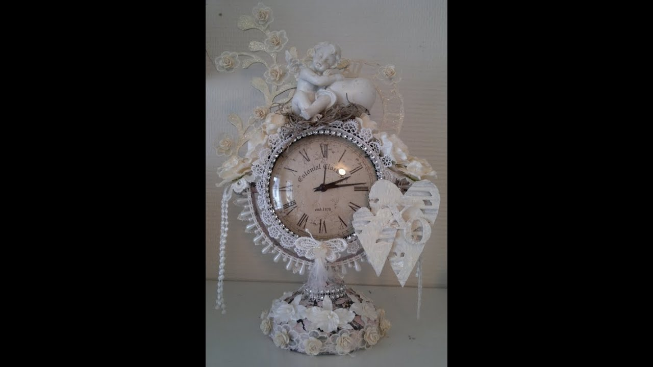 Altered shabby chic clock Wild Orchid Crafts DT project ...
