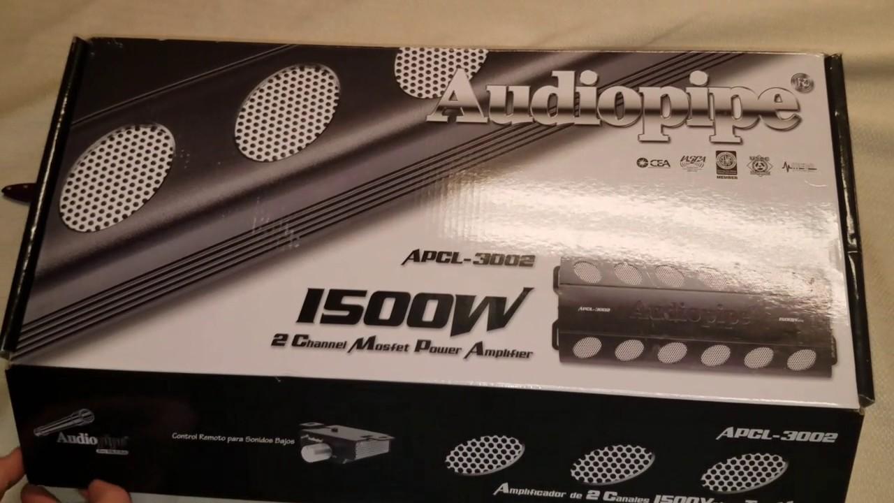 Audio Pipe 1500 Watt 2 Channel Amplifier unboxing