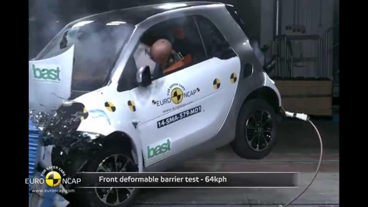 euro ncap crash test of smart fortwo 2014 youtube. Black Bedroom Furniture Sets. Home Design Ideas