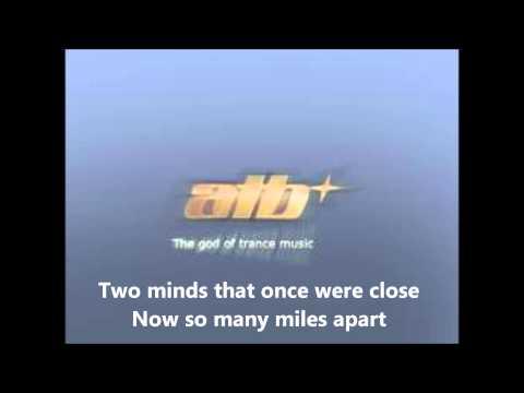 ATB Yore not alone lyrics